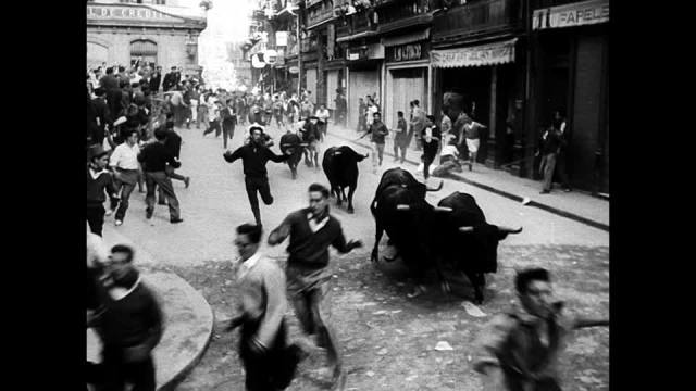 The Streets of Pamplona in 1958